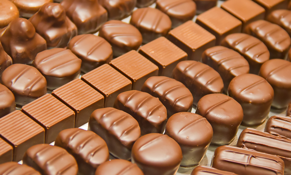 rows of chocolate